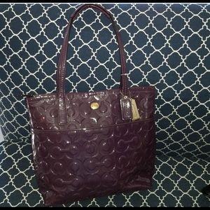 Coach Peyton patent leather grape tote Bag #F26901